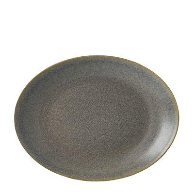 PLATE OVAL 20.5CM GRANITE, DUDSON EVO