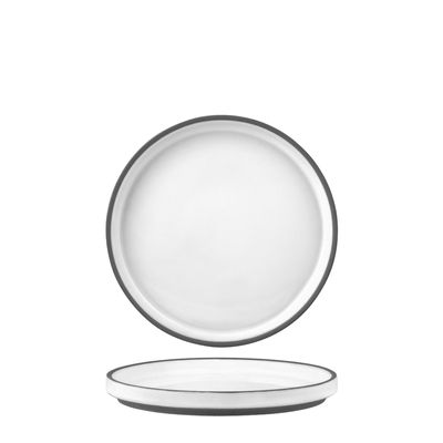 PLATE WHITE RIMMED 150MM, TK MUSE
