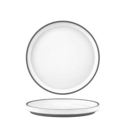 PLATE WHITE RIMMED 170MM, TK MUSE