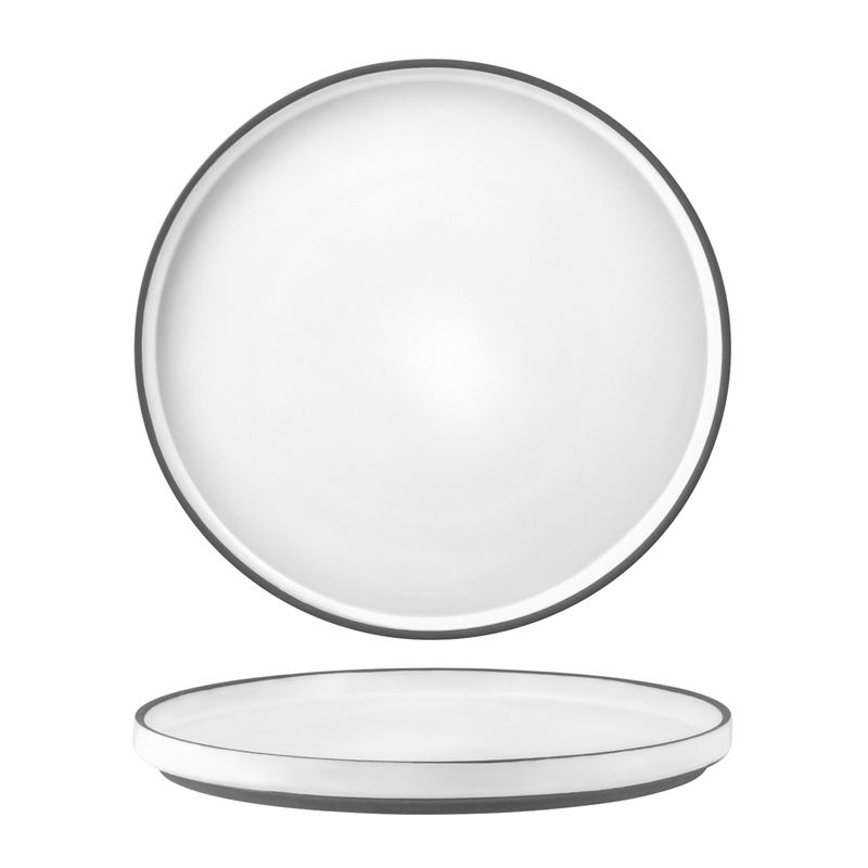 PLATE WHITE RIMMED 265MM, TK MUSE