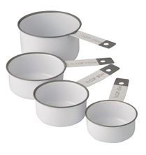 MEASURING CUP 4PC WHT/GRY, ACADEMY