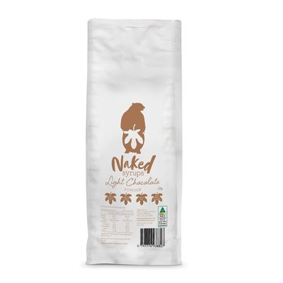 LIGHT CHOC POWDER 1KG, NAKED SYRUPS