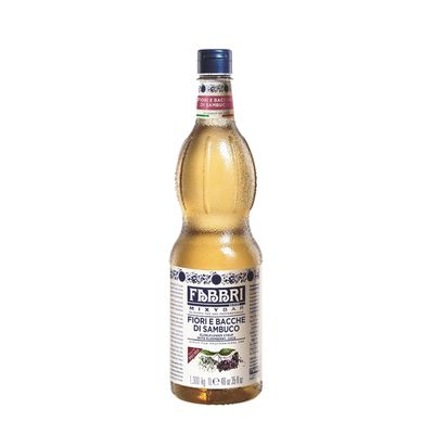 ELDERFLOWER SYRUP 1LT FABBRI