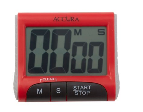 ACCURA DIGITAL RD/WH TIMER 99MIN