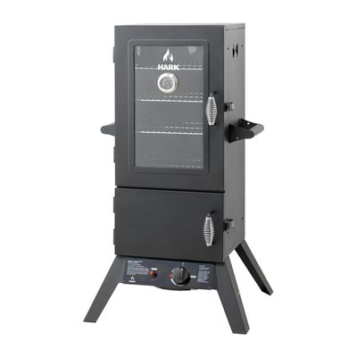 2 DOOR GAS SMOKER W/WINDOW, HARK