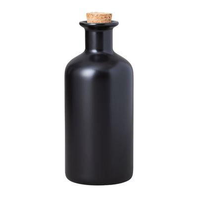 OIL BOTTLE/CORK LID 500ML BLK EPICURIOUS