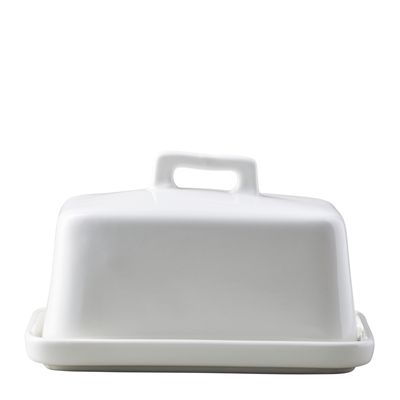 BUTTER DISH WHITE, EPICUROUS
