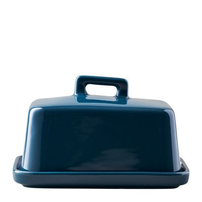 BUTTER DISH TEAL, EPICUROUS