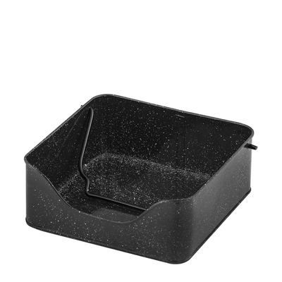NAPKIN HOLDER BLACK 19.5X19.5CM FLINDERS