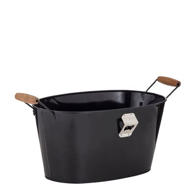 TUB OVAL BLACK 39X25X20CM,  D&W FLINDERS