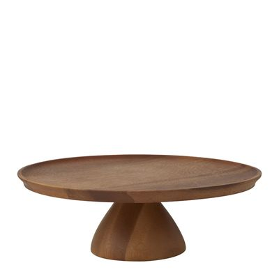 CAKE STAND ACACIA 300X100MM, D&W