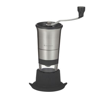 COFFEE GRINDER HAND S/STEEL/BLK SAVANNAH