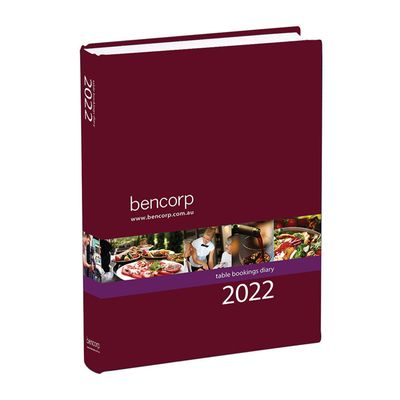 RESTAURANT TABLE BOOKINGS DIARY 2022