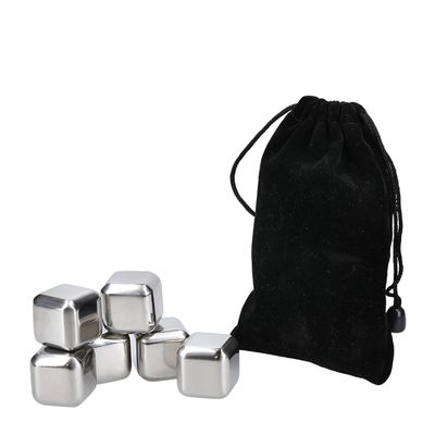 WINE CUBE SET-6 STAINLESS ST, BARCRAFT