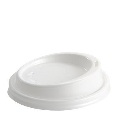 90MM PLASTIC WHITE LID, BIOPAK