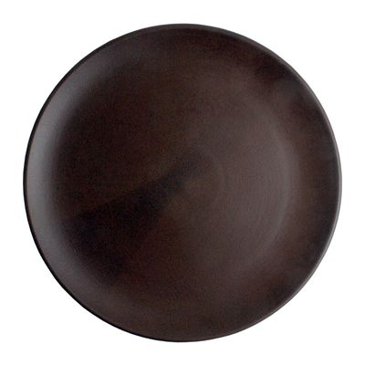 PLATE COUPE BROWN 28CM, THE GOOD PLATE