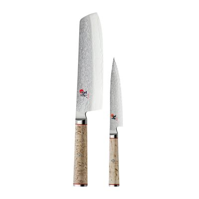 KNIFE SET OF 2 NAKIRI/SHOTOH BIRCHWOOD