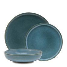 DINNER SET SAGE BLUE 12PC, S&P HUE