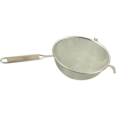 METALTEX DOUBLE MESH WOODEN HANDLED STRAINERS