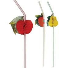 STRAW FLEXI FRUIT 100PCS