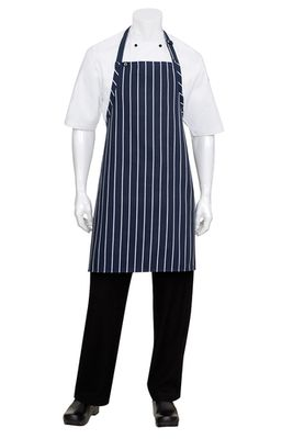 APRON NAVY/WHITE STRIPE BIB NO POCKETS