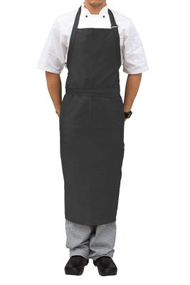APRON BIB SLATE LRG,NO POCKET ADJUSTABLE