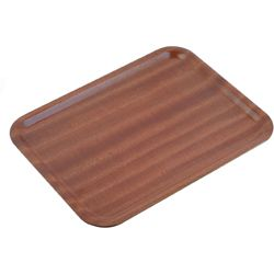 MAHOGANY WOOD TRAY RECT