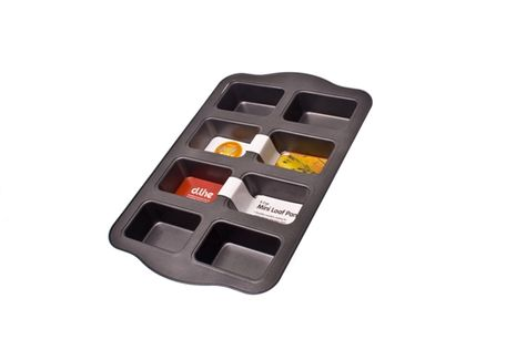 RECTANGLE LOAF PAN MINI 8 CUP N/S, DLINE
