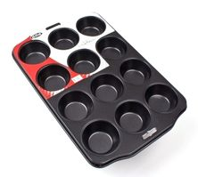 MUFFIN PAN 12 CUP N/ST, D.LINE PROF