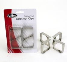 TABLE CLOTH CLIPS 4PCE S/ST- D.LINE