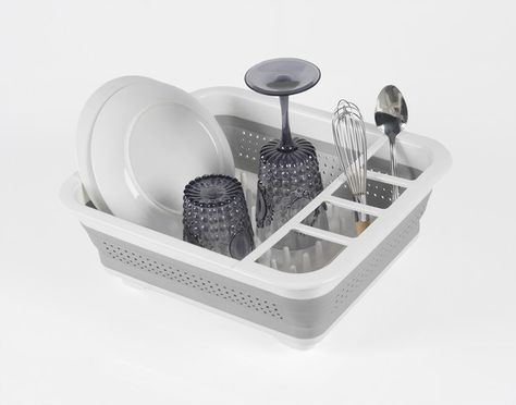 DISH RACK COLLAPSIBLE 36.8X31.5CM WHITE