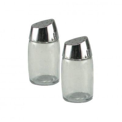 SALT & PEPPER 8CM GLASS CITY SQUIRE SNGL