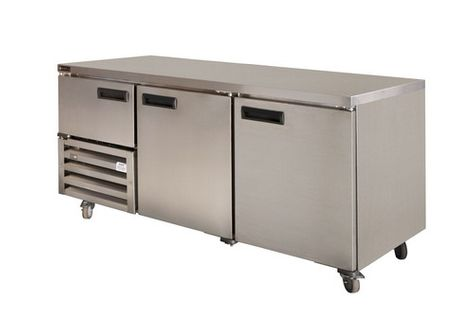 FRIDGE U/COUNTER 2.5 DOOR SOLID ANVIL