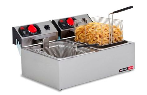 FRYER COUNTER TOP 2X5LT 2 BASKET ANVIL
