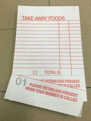 TAKEAWAY FOOD DOCKET BOOK 100