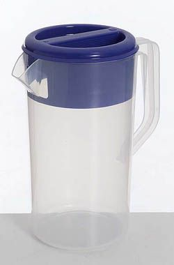 JUG PLASTIC FROSTED BLUE LID 2.5L