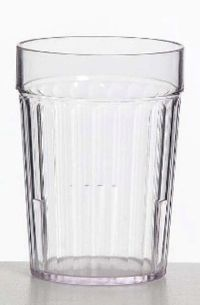 TUMBLER 230ML CLEAR PLASTIC