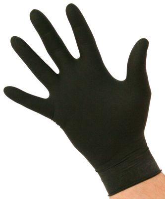 GLOVE BLACK LARGE NITRILE P/FREE