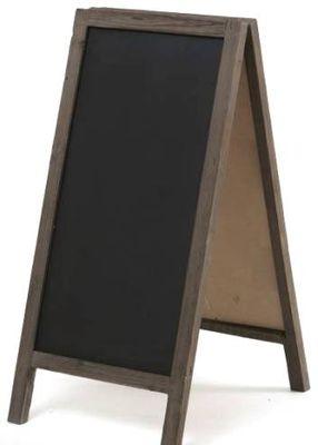 BLACKBOARD FOLD A-FRAME 1MX45CM WOOD