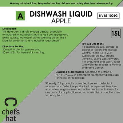 DISHWASH LQD GREEN APPLE, 15LT