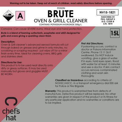 CLEANER BRUTE OVEN/GRILL