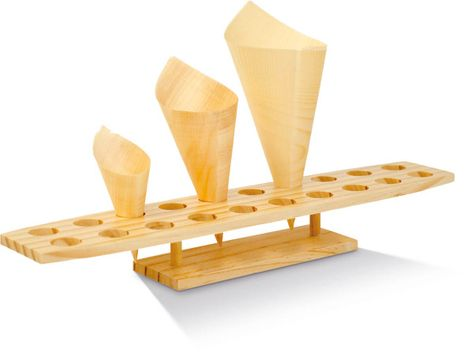 WOODEN CONE STAND 20HOLES, 45X9X6CM