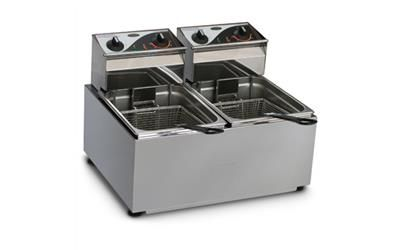 FRYER COUNTER TOP 2X8LT 2 BASKETS ROBAND