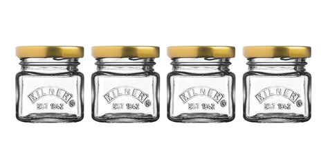 JAR MINI W/LID SET OF 4 55ML, KILNER