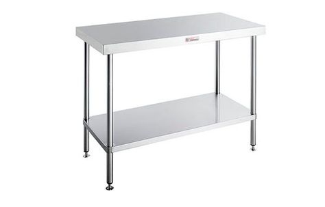 WORK BENCH WITH LEG BRACE SIMPLY STAINLESS