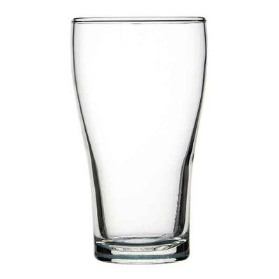 GLASS BEER CONICAL, CROWNTUFF
