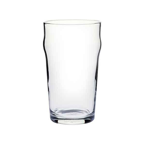 BEER GLASS 570ML NUCLEATED, CROWN NONIC