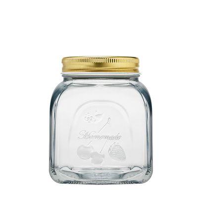 JAR GLASS W/LID, PASABACHE HOMEMADE