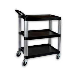TROLLEY BLACK 3TIER/800X380X880MM,SUNNEX