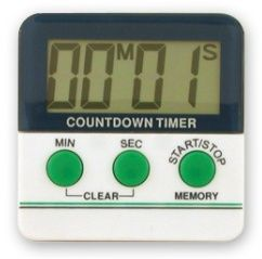 TIMER BIG DIGIT WHITE LCD W/BUZZER